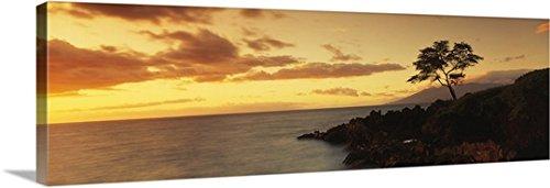 Canvas On Demand Premium Thick-Wrap Canvas Wall Art Print entitled Hawaii, Maui, Wailea Point - Wailea Hi Maui