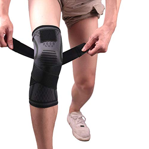 Asatr 1 Pack Pressurized Fitness Running Cycling Knee Pad Support Braces Knee Pads