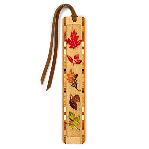Fall Leaves - Autumn - Arboretum Engraved Color Wooden Bookmark with Tassel - Search B0716J8HF3 to see personalized version