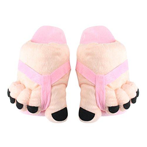 Rigolo Chaud Adulte Fourré Taille 36 Fantaisie Pantoufle en d'interieur Souple Chaussure Peluche YOUJIA Hiver pink 38 Chausson Femme w1Y8x8qB