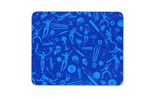 Blue Cricket Print Mouse Mat Pad - Ball Sports Dad Son Mens Computer Gift #16490
