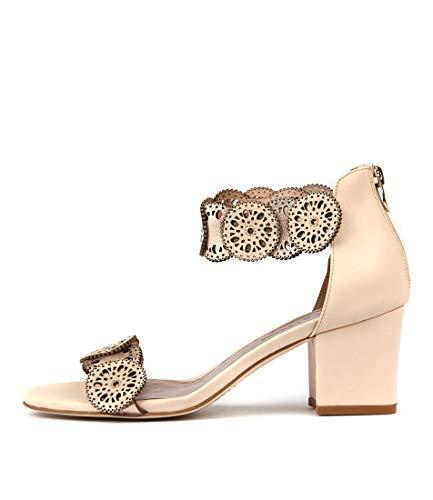 DJANGO & JULIETTE Legra Womens Heels Womens Shoes BEIGE ROSE GOLD LEATHER