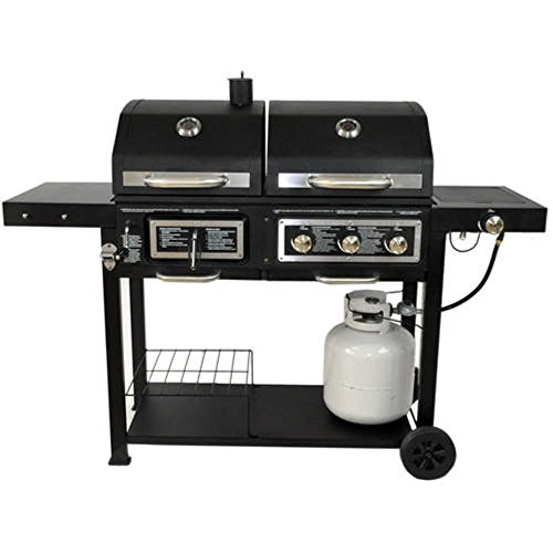 dual fuel combination charcoal gas grill gas barbecues. Black Bedroom Furniture Sets. Home Design Ideas
