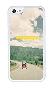 Zheng caseApple Iphone 5C Case,WENJORS Cool NEVER STOP EXPLORING vintage volkswagen van Soft Case Protective Shell Cell Phone Cover For Apple Iphone 5C - TPU White