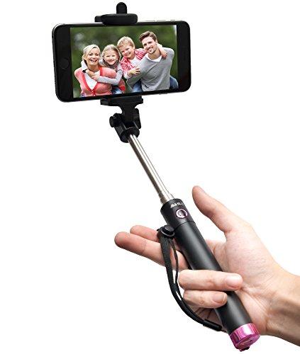 selfie stick baslo compact foldable selfie poles extendable wireless bluetooth selfie sticks. Black Bedroom Furniture Sets. Home Design Ideas