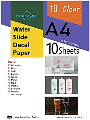 Nova Horizon - Papel adhesivo para impresora de inyección de tinta ...