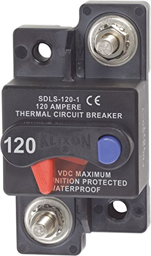 120a Circuit Breaker (Blue Sea Systems Klixon SFCMT Circuit Breaker, 120 Amp)