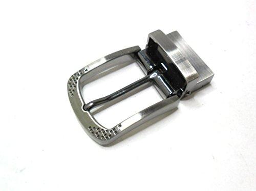 Wende-Gürtelschnalle (buckle) für 3,5 cm Riemen in Silber-Antik.