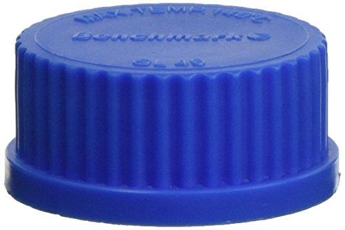 Benchmark Scientific Hybex B3000-CAP2 Polypropylene Standard Replacement Cap for Media Storage Bottle, Blue, GL32 Thread Size (Pack of 10)