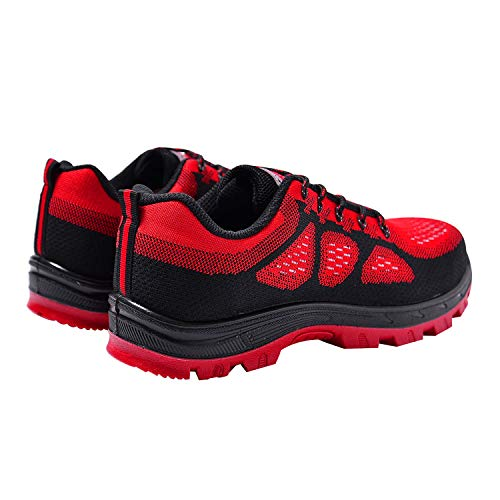 Work Safety Steel Men's Shoes Optimal Red Shoes Toe Shoes w15t4PqFW