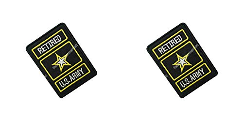 Us Army Retired Patch (Application US Army Retired Cosplay Applique Patch Great Gift for Parties, Decoration. Or Collecting! J&C Family Owned Brand 2-Pack Gift Set)