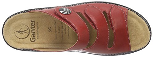 rosso Mujer 4100 Ganter Weite G Gracia Rot Mules wxnqY7UC