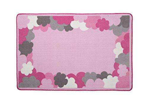 Kids Area Rug, Girls Clouds | Children's Room Carpet in Pink, Grey and Hot Pink | Delta Children by Delta Children