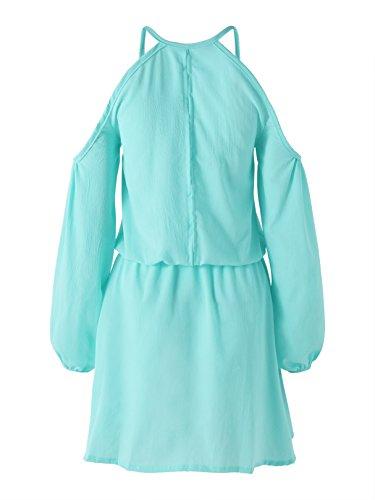 Acampanada Falda light Z Con Para Estilo Green Mujer Cintura Casual Yoins De Alta wTqF6gdFz