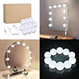 Lightess Hollywood Vanity Lights Dimmable Makeup Mirror Light, 10 Bulbs Lighting Fixture Strip for Bathroom Dressing Room