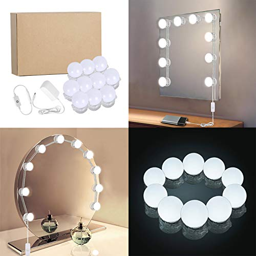 Lightess Hollywood Vanity Lights Dimmable Makeup Mirror Light, 10 Bulbs Lighting Fixture Strip for Bathroom Dressing Room by LIGHTESS