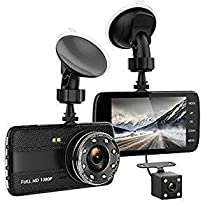 TenTenco Dash Cam Front and Rear Dual Camera for Cars,4.0 IPS Screen, HD 1080P Car Dash Camera, Rearview Backup Camera,170 Degree Wide Angle, WDR, Loop Recording, G-sensor, Parking monitor