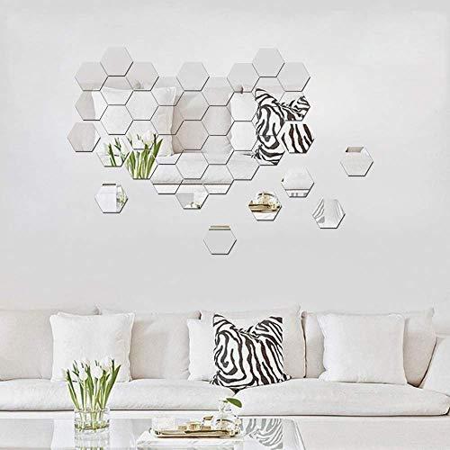 ITTA 3D acrílico DIY pared decorativo espejo autoadhesivo pegatinas de pared geométrico hexágono pared mural decoración...