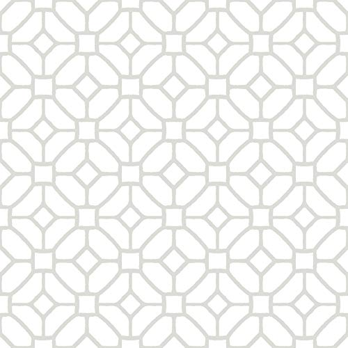 FloorPops FP2946 Lattice Peel & Stick Floor Tile, White