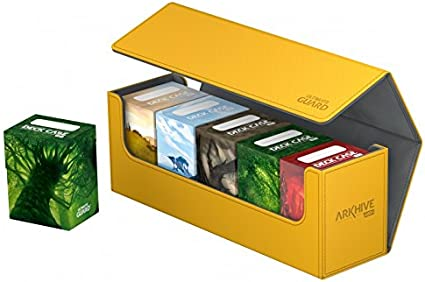 Ultimate Guard-Boulder Deck case 100 Amber-Gaming card box for arkhive