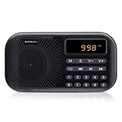 Feather: This radio has a fashionable appearance, simple and easy-to-use functions, high-end decoding and radio IC, 45mm high-fidelity speaker, clear and loud sound, strong ability to received signals to bring you a pleasant experience. 1. I...