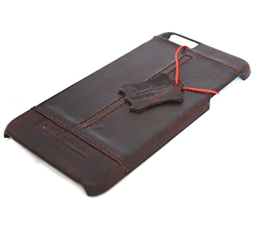 Original Vintage geölt Full Leder Handmade Schutzhülle für Apple iPhone 6S Plus Wallet Lite Retro 6S + D Magnet