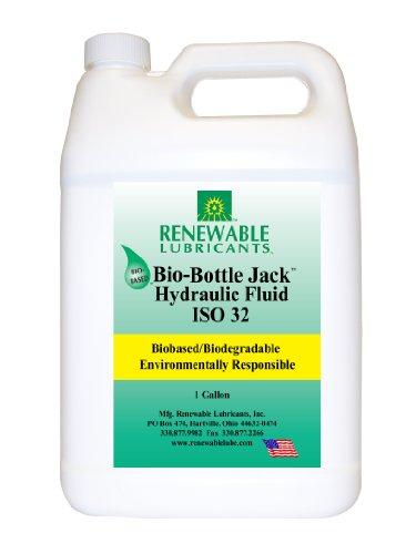 Renewable Lubricants Bio-Bottle Jack ISO 32 Hydraulic Lubricant, 1 Gallon Jug