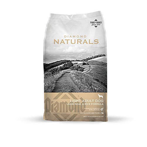 Diamond Naturals Light Real Meat Recipe Natural Dry Dog Food To Help Support Weight Management With Real Pasture Raised Lamb Protein 30Lb (Diamond Grain Free Dry Dog Food)