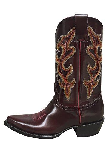 Planet Cowboy Menns Retro Boot Vino