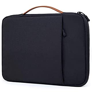 HYZUO 15 Inch Protective Laptop Sleeve Bag Waterproof Shock Resistant Cases for 14-15.4 inch MacBook Pro A1398 / A1707 / Surface Laptop/Book, Oxford Cloth Carrying Briefcase Black