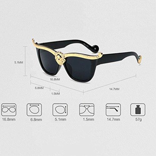 313d2d2ae HONEY Gafas de sol retro para mujer - Protección UV HD - Gafas de alta  calidad