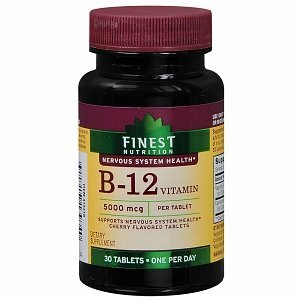 Finest Nutrition B12 5000 mcg Tablets, 30 ea