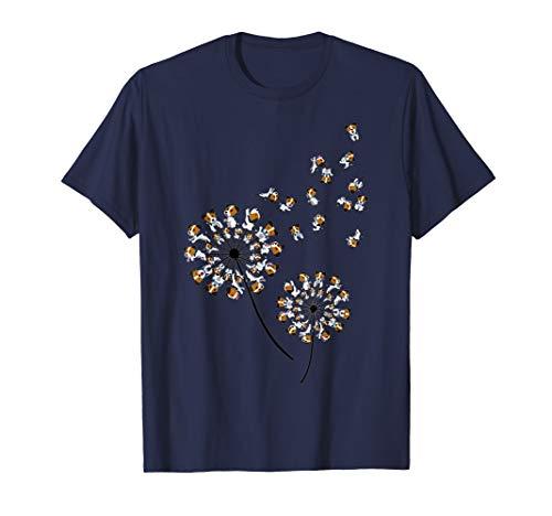 Jack Russell Terrier Flower T Shirt, Dog Dandelion