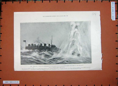 1901 Star-Fish Ship Submarines Lords Admiralty Bombing