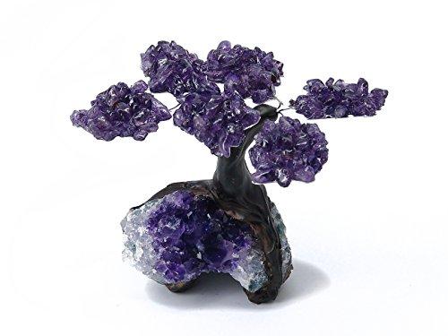 Small Amethyst Clustered Gemstone Tree (6 Petals) on Amethyst Matrix