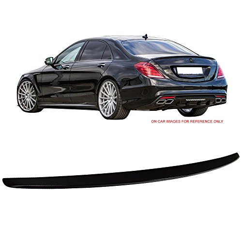 - Pre-painted Trunk Spoiler Fits 2014-2018 Benz W222 S Class | OE Style ABS Painted #197 Obsidian Black Metallic Rear Tail Lip Deck Boot Wing By IKON MOTORSPORTS