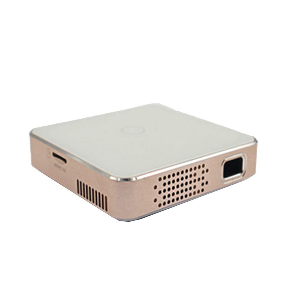 プロジェクター ポータブルミニプロジェクター、 LED 1080P HD投影、USB/Micro SD/HDMI/ACに対応,Gold B07R33BBSH Gold