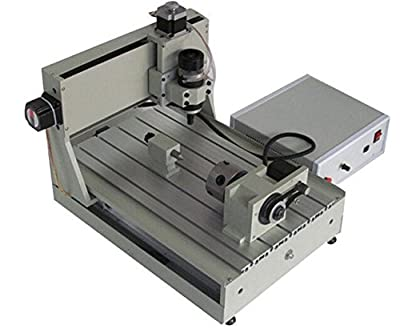Boshi Electronic Instrument 110V/220V 4 Axis CNC Router Engraver Drilling/Milling Engraving Machine Rotation Axis(with AC motor and rotation axis)