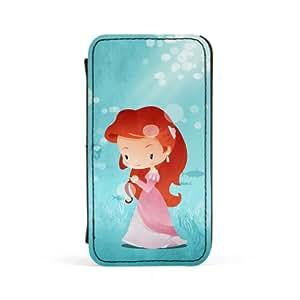 Princess Ariel Carcasa Protectora Premiun PU en Cuero, con Tapa para Apple® iPhone 4 / 4s de DevilleArt + Se incluye un protector de pantalla transparente GRATIS