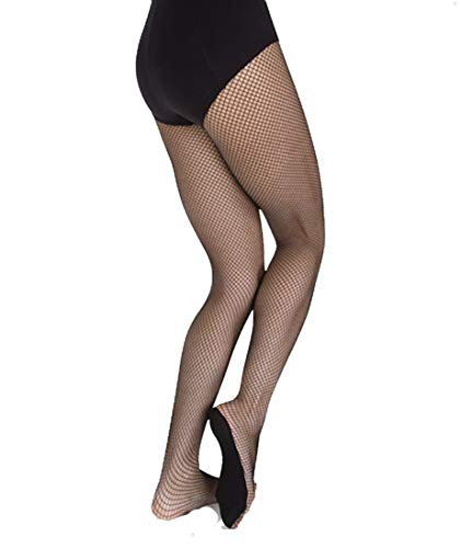 Body Wrappers A67 Womens Total Stretch Fishnet Tights (Small/Medium, Suntan)