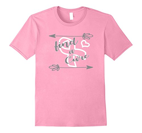 Mens Find a Cure T-Shirt for Breast Cancer Awareness Supporters 2XL Pink