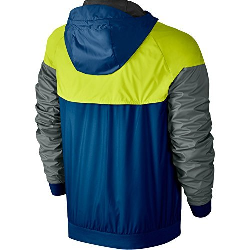 Nike Mens Windrunner Hooded Track Jacket Blue Jay/Cactus/Black 727324-433 Size Small by Nike (Image #1)