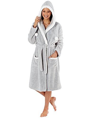 Selena Secrets - Pijama - Estrellas - Manga Larga - para mujer Grey Polar Bear - Robe
