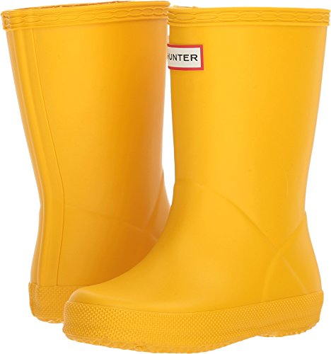 Hunter Kids Unisex Original Kids' First Classic Rain Boot (Toddler/Little Kid) Yellow 9 M US Toddler - Hunter Yellow Rain Boots