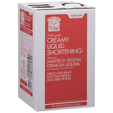 Bakers & Chefs 100% Pure Creamy Liquid Shortening (35 lbs.) (pack of 6)