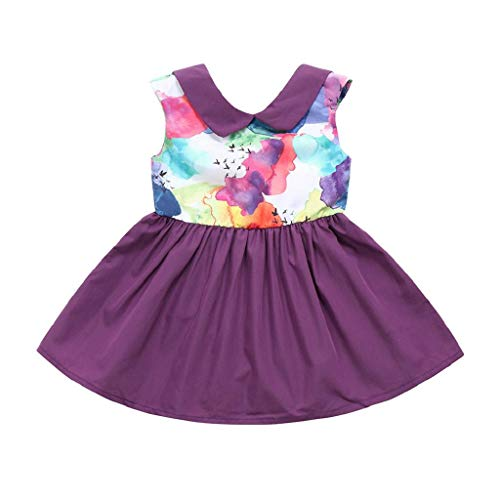 GUTTEAR Girls Snow White Costume Dress Kid Princess Dress Halloween Party Dress 1-10 Y]()