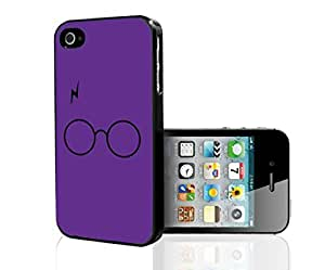 Fun Glasses and Lightning Bolt Fan Art on Purple Background Hard Snap on Phone Case (iPhone iphone 5c )