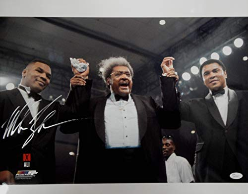 Mike Tyson Hand Signed Autographed 16X20 Photo w/Muhammad Ali Don King JSA COA ()