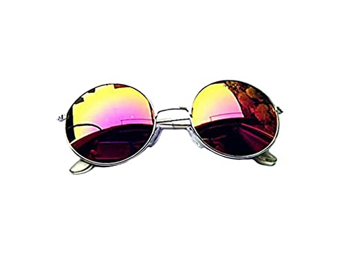 c2089015a8 Image Unavailable. Image not available for. Color  NEW Unisex Vintage Retro  Men Women Round Metal Frame Sunglasses ...