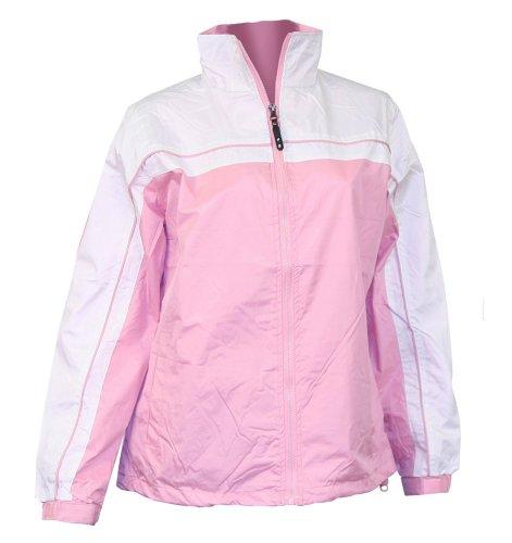 Apparel No. 5 Women's Smart Windbreaker Jacket,Large,Pink / White